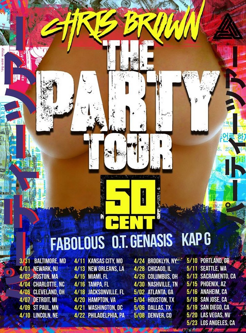 Chris Brown The Party Tour flyer