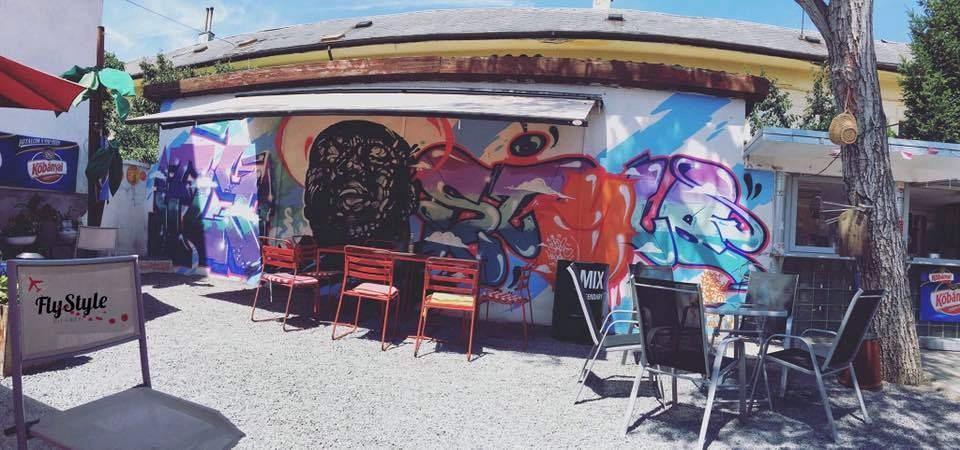 Fly Style graffiti Beles Romkocsma Sátoraljaújhely