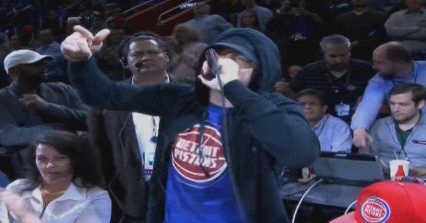 Eminem Detroit Pistons NBA Little Caesars Arena megnyitó