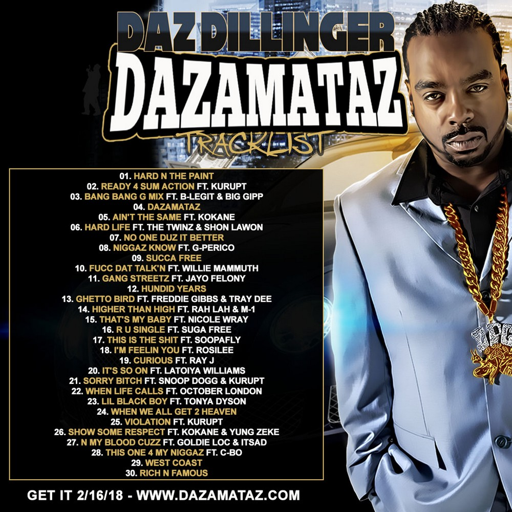 Daz Dillinger Dazamataz tracklist