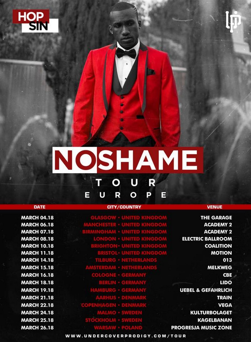 Hopsin No Shame Europe Tour Dates 2018