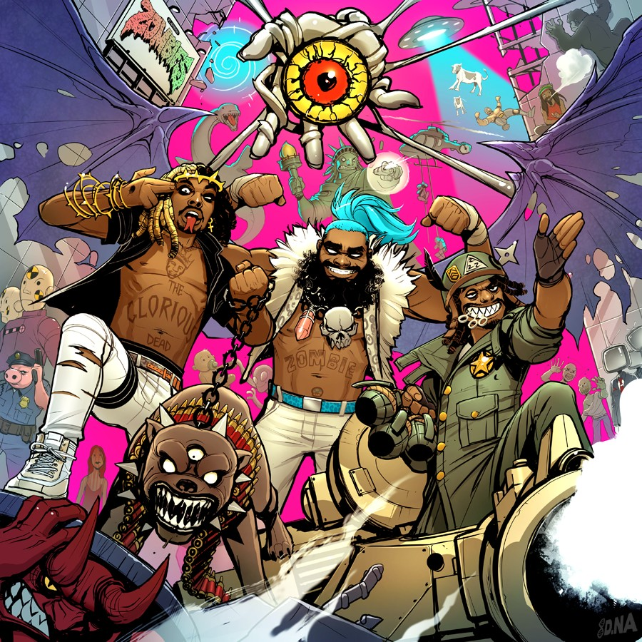 Flatbush Zombies 3001: A Laced Odyssey David Nakayama borító grafika