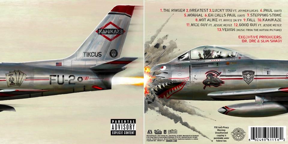 Eminem - Kamikaze album borító