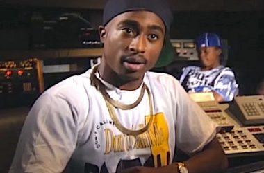 2Pac egy stúdióban a '90-es években