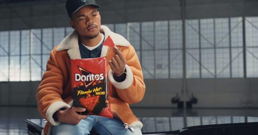Doritos Flamin' Hot Nacho chips Chance The Rapper Super Bowl video