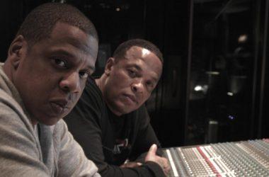 Jay-Z és Dr. Dre együtt a stúdióban.