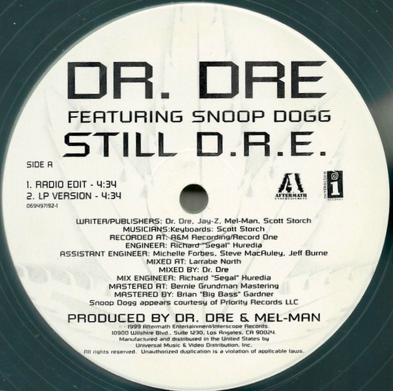 Dr. Dre feat. Snoop Dogg - Still D.R.E. single